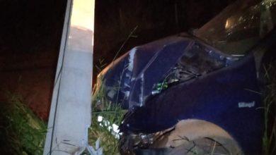 Foto de PM prende condutor Alcoolizado após colisão em Água Clara