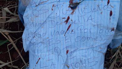 Foto de Corpo de adolescente é encontrado no Paraguai sem mãos e com bilhete: 'os justiceiros estão de volta'